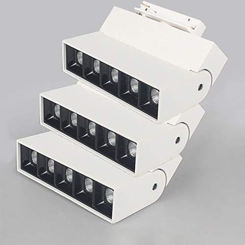 Aione Surface Mount LED Strahler 10w-20w Schieneninnenbeleuchtung Spot-Decken Modernes Aluminium 3 / Oblong/Beleuchtung/Light 3000k (weiß),10w,fourwires -