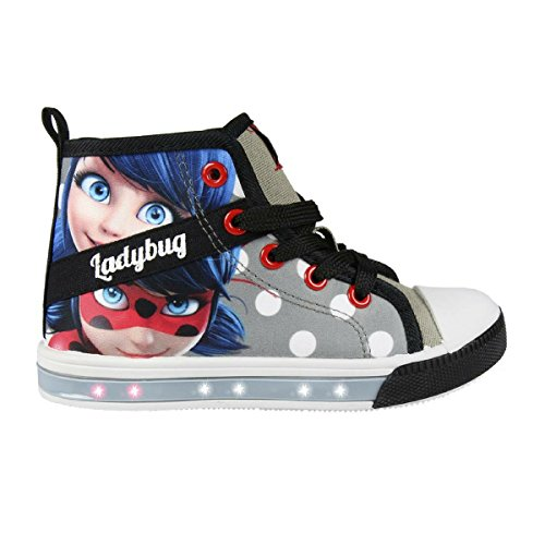 Cerd-Zapatillas-con-Luces-Ladybug-Bambas-de-Lona-con-Luz-Prodigiosa-Color-Gris-Negro-y-Rojo-Regalo