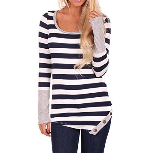 women-fashion-stripes-stitching-long-sleeved-shirt-tops-blouse-anglewolf-l-gray