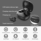 GYRS Bluetooth Kopfhörer in Ear Sport Kabellos Ohrhörer V5.0 Touch Bluetooth Headset mit Portable Ladebox, Siri, Mikrofon für alle Bluetooth-Gerät.