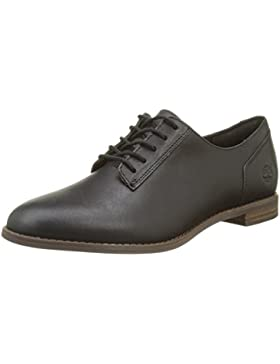 Timberland Damen Preble Oxford Soil Forty Leather, Jet Black Schwarz
