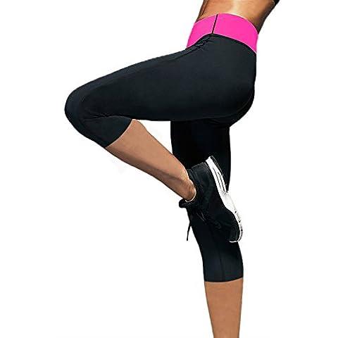 De caoutchouc de chloroprène thermique positive mise en forme de transpiration thermique pantalon le gymnase de sauna de yoga legging pantalon pour femme de perte de poids d