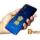 DHARU 24K Gold Plated Satyamev Jayate Shape Metal Sticker Stick on Any Flat Surface (Pack of 2)