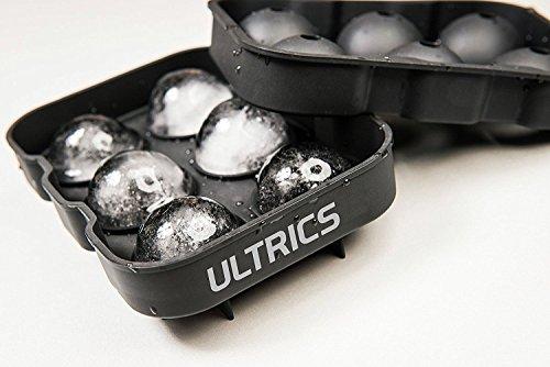 ULTRICS® Eiswürfelform Eiskugelform, Premium BPA Freie Silikon Eis Runde Hersteller-Form Eisformen Perfekt für Whisky, Highball, Cocktail oder Likör Gläser und Jede Art von Getränken (2 Glas Runde Getränke)