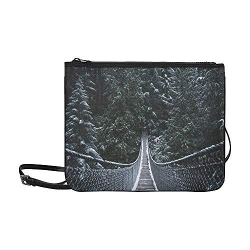 WYYWCY Gefährliche Hängebrücke Muster Benutzerdefinierte hochwertige Nylon Slim Clutch Bag Umhängetasche Umhängetasche - Entdecken Kanada