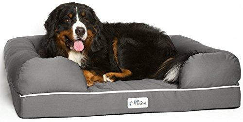 PetFusion Ultimate Haustierbett, Premium-Edition, Schaumstoff mit Formgedächtnis (Kissen-insert-runde)