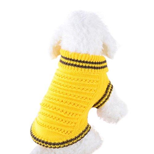 ßigkeiten Farbe Haustier Durchbrochen Sweatshirt Zum Klein Hunde (XS, Gelb) (Mann In Den Großen Gelben Hut)
