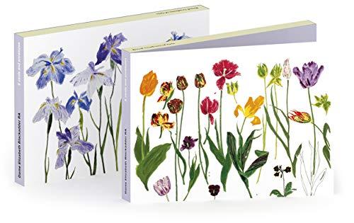 Elizabeth Geldbörse (Royal Academy Notizkarten Geldbörsen - Tulpen & Iris von Dame Elizabeth Blackadder RA - 6er Set (3 x 2 Designs) (Rechteckig, Querformat))