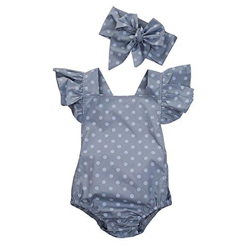 BEAUTOP Polka Dot Neugeborenen Baby Mädchen Kleidung Schmetterlingshülse Spielanzug Jumpsuit Sunsuit Outfits (Sunsuit Polka Dot)