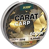 Jaxon Angel cuerda Carat Carp 600 M Bobina monofile para carpas Top (0,018 €/m), marrón oscuro, 0,27mm/14kg