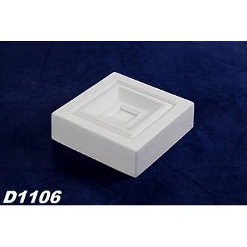 D493 1 Dekorelement für Türumrandung Eckelement Viereck Dekor stoßfest 95x95mm