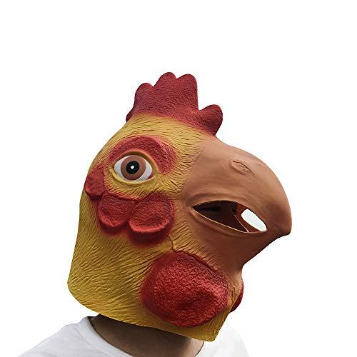 Cat Huhn Kostüm - SilenceID Halloween Tierkopf Maske Neuheit Huhn Kopfbedeckung Nachtclub Party Kostüme Masken Halloween Party Cosplay Dekorationen