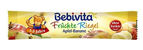 Bebivita Früchte Riegel Apfel-Banane ohne Zuckerzusatz ab 1 Jahr 10er Pack (10 x 25 g)