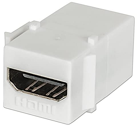 Intellinet HDMI Keystone-Modul Inline-Kupplung (HDMI-Buchse auf HDMI-Buchse) weiß
