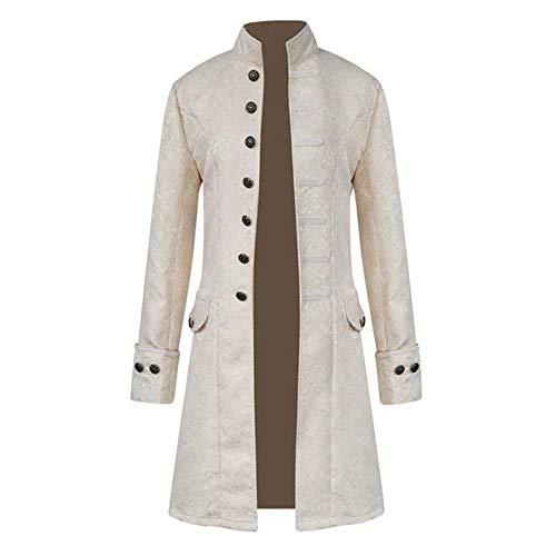 AmyGline Herren Jacke Frack Steampunk Gothic Gehrock Uniform Cosplay Kostüm Smoking Mantel Retro Viktorianischen Langer Uniformkleid Plus Size Männer ()
