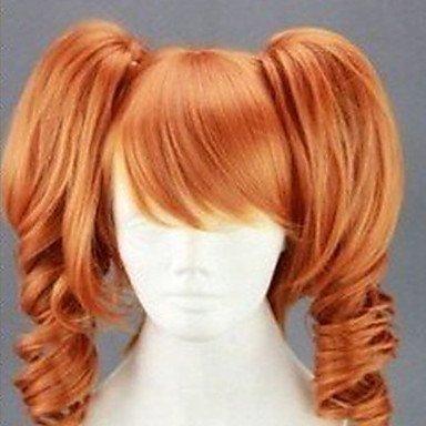 HJL-parrucca cosplay di moda lungo 20 pollici ricci animato capelli sintetici parrucche parrucca fu