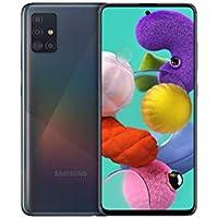Samsung Galaxy A51 Android Smartphone ohne Vertrag, 4 Kameras, 6,5 Zoll Super AMOLED Display, 128 GB/4 GB RAM, Dual SIM, Handy in schwarz, deutsche Version