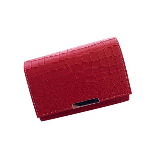 BZLine® Mode Frau Crossbody Schulter Taschen Handtasche, 21cm*24cm*13cm Rot
