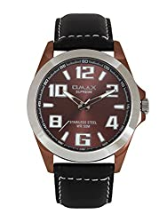 OMAX Analog Brown Dial Mens Watch - SS145