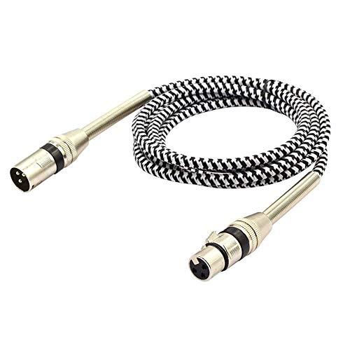 LoongGate symmetrisches Premium Series geflochtenes XLR-Kabel, professionelles Mikrofonkabel für Power-Lautsprecher, Audio-Interface oder Mixer, Live Performance und Aufnahme 2 m Lautsprecher-power-kabel