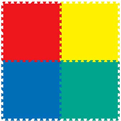 Intra Kids Fitness Flooring Eva Mats, Green/Yellow/Blue/Red (24-inch x 24-inch x 10-mm approximately)
