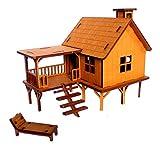 StonKraft 3D wooden puzzle house - puzzle in legno 3d, puzzle in legno 3d, kit di costruzione casa, Oggettistica per la casa, Giocattolo da costruzione, Kit di modellazione, Progetto scolastico