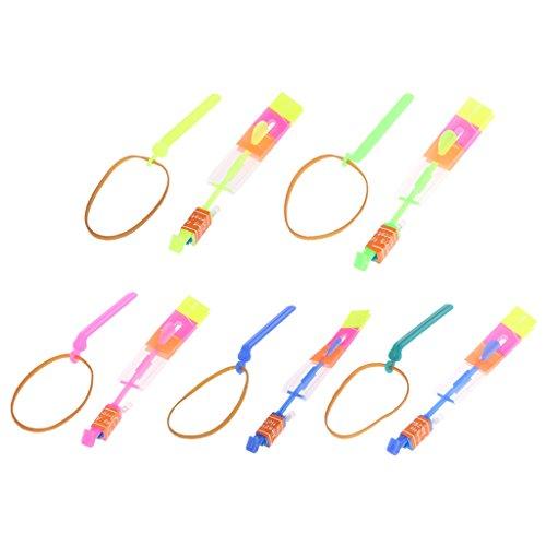 FKY LED-Licht Große Slingshot-Pfeile Katapult Flash Flying Hubschrauber Kinderspielzeug