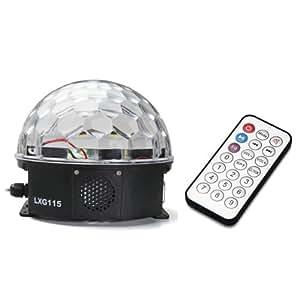 Easy Provider® 12W LED RGB RVB Projecteur Boule Lampe Lamp 180° MP3 pour Scène Disco KTV club
