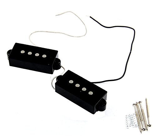 SaySure - 4 String Noiseless Pickup Black for Precision P Bass - 8 String Pickup