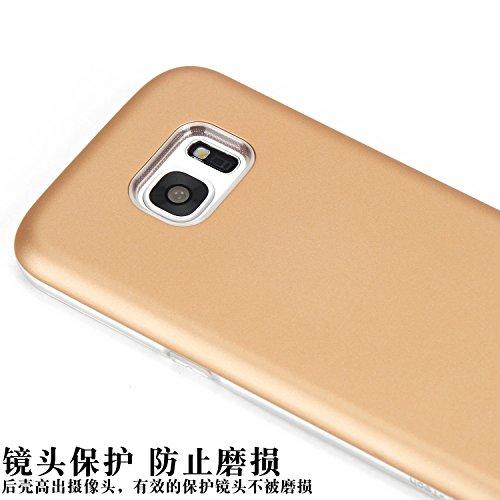Dual Layer PC + TPU Hybrid Shell Abdeckung 360 ° Voller Körper Schutz Schock Absorbtion Fall Ultra Thin Slim Case für Samsung Galaxy S7 ( Color : Gray ) Red