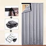 Thermo-Türvorhang Wasserdicht Warm Halten Kälteschutz Wärmeisolierung Schallschutz Partition Vorhang, 2 Arten, Benutzerdefinierte Größe (Color : A, Size : 80x210cm)