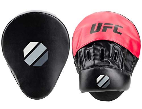 UFC Herren Contender Curved Focus Mitt Pratzen, Schwarz/rot, 26x19x15 cm -