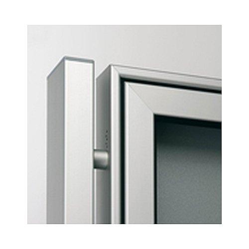 1,9 mtr. B/&T Metall Aluminium Vierkantrohr pulverbeschichtet 50 x 30 x 2 mm ANTHRAZIT RAL 7016 L/änge ca 1900 mm +0//- 3 mm