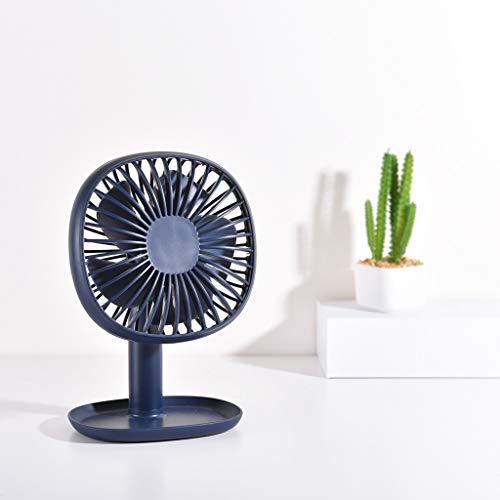 Hirolan Tragbarer Tischventilator USB Mini Electric Fan Tischventilator 3-Fach Wind einstellbar andventilator Batteriebetrieben Mini Tragbar Wiederaufladbar Ventilator