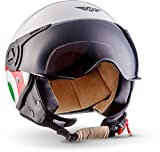 MOTO Helmets H44 'Italy' · Jet-Helm · Motorrad-Helm Roller-Helm Scooter-Helm Bobber Mofa-Helm...