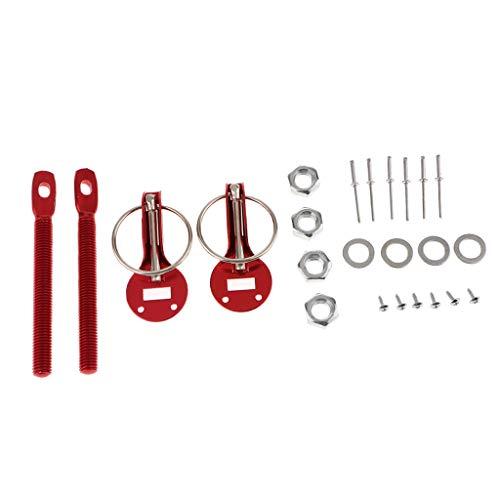 Haube-pin-kabel (F Fityle Universal-Aluminium-Legierung Haubenschloss Zeichnung Kabel-Schnur-Hauben-Verschluss Kit Auto-Träger-Racing Refitting)