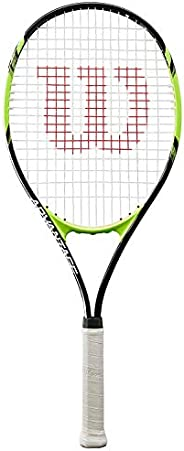 Wilson Unisex Adult 2-WRT30140U3 Advantage Xl Tennis Racket Without Cover - Black/Green, Grip 3
