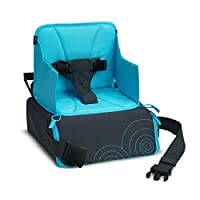 Munchkin Portable Travel Child Booster Seat, Blue/Grey
