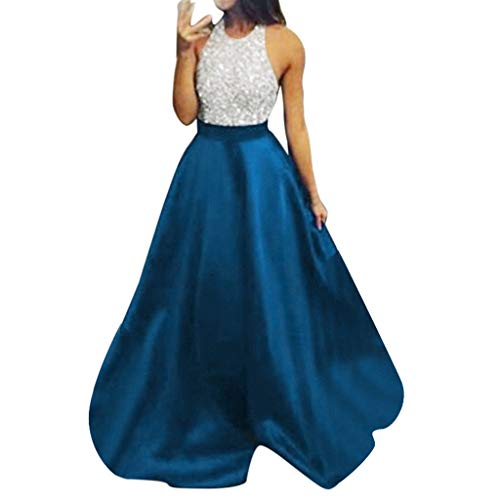 f7f220ab5 POLP Vestidos Vestido de Novia para Boda Dama de Honor Vestidos de Fiesta  Mujer Largos Talla