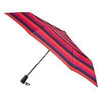 totes Auto Open Close XTRA STRONG Block Stripe Umbrella