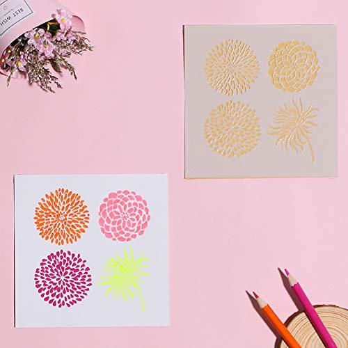 ETbotu Aushöhlen Schablonen Dekorative Papierkarte Malvorlage DIY Fotoalbum Zubehör Staubblatt 54042