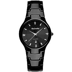 ultra thin ceramic watch/Ladies watches diamond mirror/Waterproof quartz watches-A