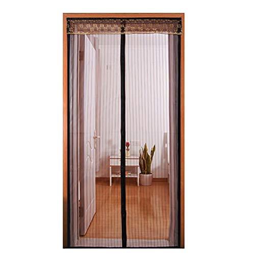 YSA Magnetische Vorhänge für Türen Mesh-Vorhang mit Heavy-Duty-Mesh-Vorhang und Full-Frame-Keep Bugs Out | Haustierfreundlich, Braun, 100 * 200cm -