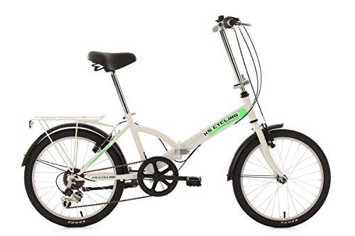 KS Cycling Fahrrad Faltrad Classic RH 31 cm, weiß, 20, 577B