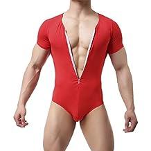 GuangmingXi Trajes de la tanga de la leotardo de los hombres mono Bodys Bikini Briefs ropa interior