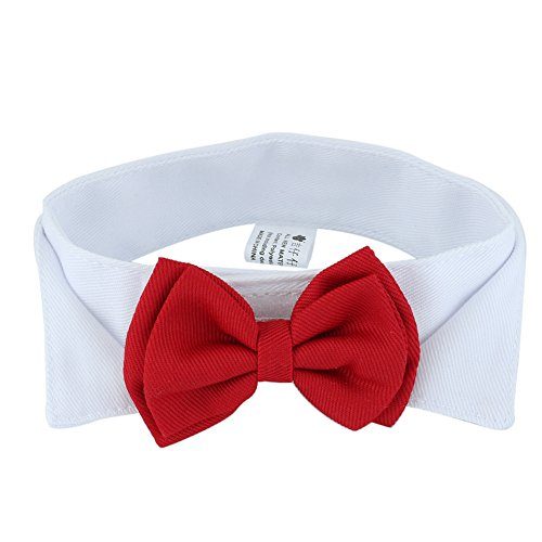 Pet Puppy Kitten Dog Cat Adjustable Red Bow Tie Collar Necktie Bowknot Clothes