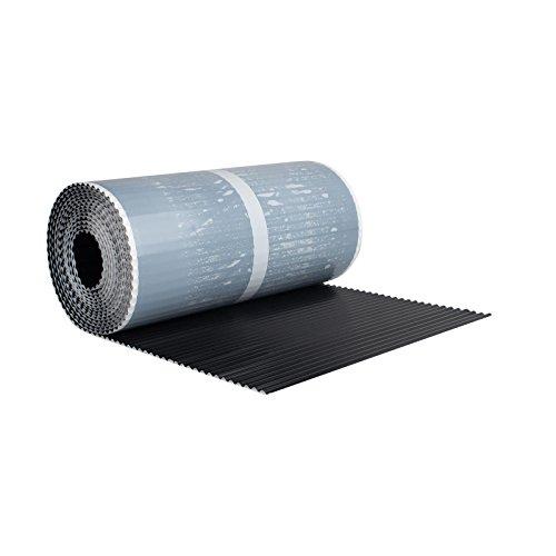 BMD Kaminanschlussband Wandanschlussband 300 mm x 5 m plissiert (schwarz (RAL 9005)) Kaminanschluss Wandanschluss Kaminband Aluflex Dachrolle