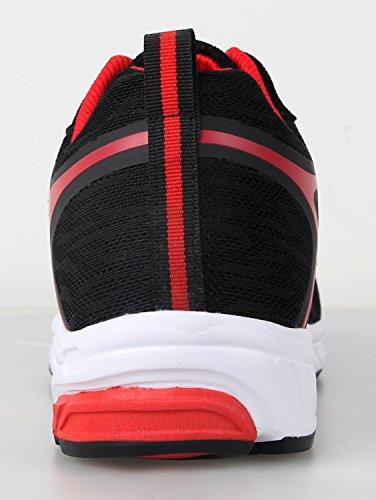 iLoveSIA Chaussure de Running Homme Antidéparante Respirante en Maille Noir Bleu Rouge Noir&Rouge