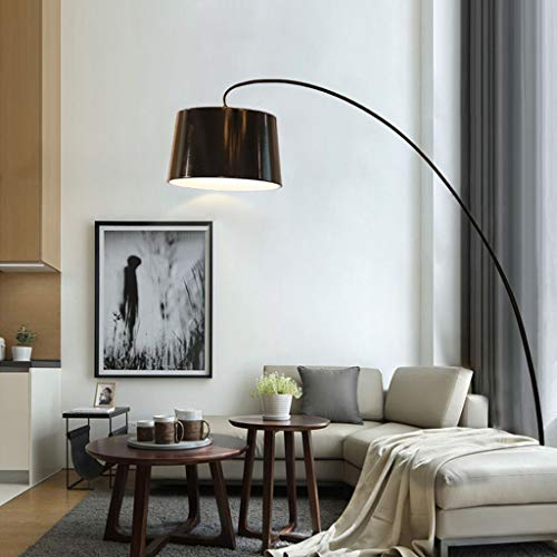 HU HAO UK Stehlampe- Nordic Arc Stehleuchte, Moderne Minimalistische Augenschutz Dekorative Stehlampe mit Eisenbasis (Farbe : SCHWARZ)