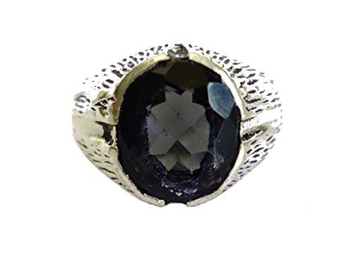 Anello in argento sterling moda per le donne IOLITE ANELLO A MANO ANELLO DA ARTIGIANI